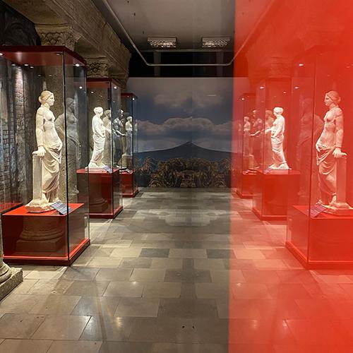 Pompeji kiállítás bútorzata